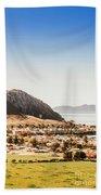 Coastal Tasmanian Town Beach Towel