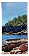 Coastline And Otter Cliff 3 Beach Towel