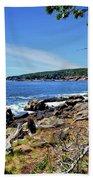Coastline At Otter Point 1 Beach Towel