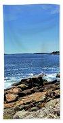 Coastline At Otter Point 5 Beach Towel