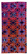 Cobalt Crimson Beach Towel
