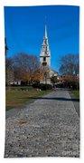 Cobblestone To Trinity Church Newport Rhode Island Beach Towel