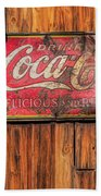 Coca Cola Barn Beach Towel