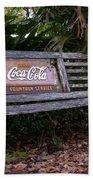 Coca Cola Bench Beach Towel