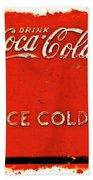 Coca-cola Cooler Beach Towel