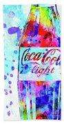Coca Cola Light Beach Towel