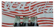 Coca Cola Olympic Commemorative Bottles Beach Sheet
