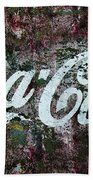 Coca Cola Wall Beach Towel