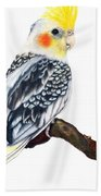 Cockatiel 2 Beach Towel