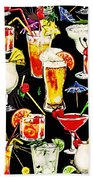 Cocktail Hour In The Tropics Beach Towel