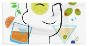 Cocktail Time Beach Towel