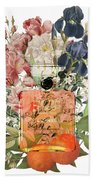 Coco Mademoiselle Notes Beach Towel