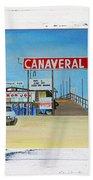 Cocoa Beach/cape Canaveral Pier Beach Towel