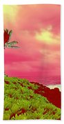 Coconut Palm Makai For Pele Beach Towel