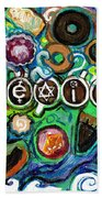 Coexisting With Coffee And Donuts Beach Towel