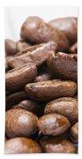 Coffee Beans Closeup Beach Towel