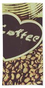 Coffee Heart Beach Towel