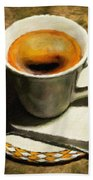 Coffee - Id 16217-152032-0430 Beach Towel