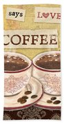 Coffee Love-jp3592 Beach Towel