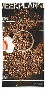 Coffee On The Menu Beach Sheet