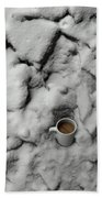 Coffee On The Rocks Beach Towel