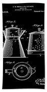 Coffee Pot Patent 1916 Black Beach Towel