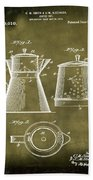 Coffee Pot Patent 1916 Grunge Beach Towel