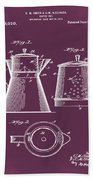 Coffee Pot Patent 1916 Red Beach Towel
