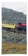 Cog Railway On Top Of Mt Washington Beach Towel
