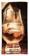 Cognac Glass On Bar Counter Beach Sheet