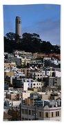 Coit Tower In San Francisco Beach Towel