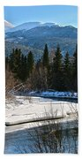 Cold River Bend Beach Towel