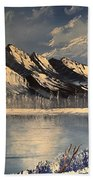 Cold Winter Lake Beach Towel