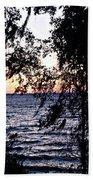 Cold Winter Sunset Beach Towel