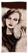 Colette In Sepia Tone Beach Sheet