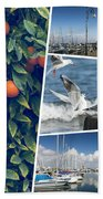 Collage Of Cyprus Images Beach Towel