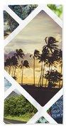Collage Of Hawaii  Beach Towel