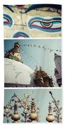 Collage Of Kathmandu  Beach Towel
