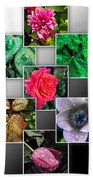 Collage Of Spring Flowers Beach Towel