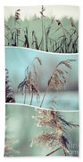 Collage Of Winter Grass Beach Towel