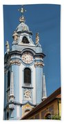 Collegiate Church Blue Tower Beach Towel