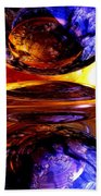 Colliding Forces Abstract Beach Towel