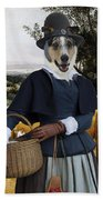 Collie Smooth - Smooth Collie Art Canvas Print - The Harvesters Beach Towel