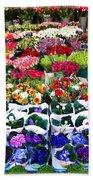 Cologne Flowers Beach Towel
