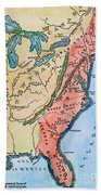 Colonial America Map Beach Towel