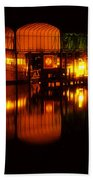 Colonial Beach Docks After Dark Beach Towel