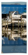 Colonial Beach Marina Beach Towel