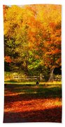 Colonial Fall Colors Beach Towel