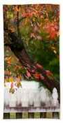 Colonial Fall Colors Beach Towel