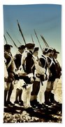 Colonial Soldiers Standing At Attention Beach Towel